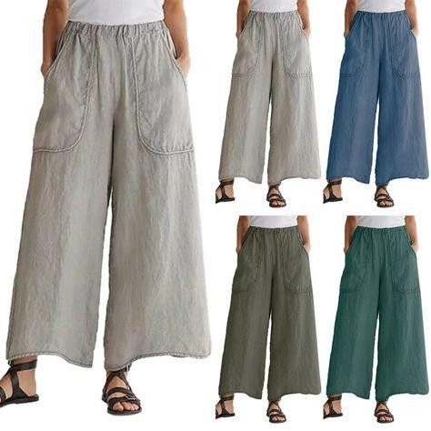 Women Baggy Shorts Ladies Culotte High Waist Elasticated Trouser Casual Wide Leg