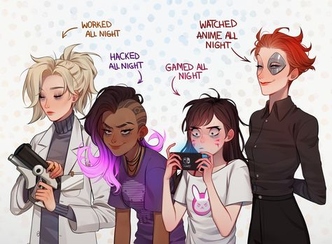 overwatch girls who are most likely to have bags/dark circles under the eyes?‍♀️ overwatch girls who are most likely to have bags/dark circles under the eyes? Overwatch Comic, Overwatch Memes, Overwatch Fan Art, Sapo Meme, Overwatch Drawings, Overwatch Wallpapers, Dark Circles Under Eyes, Gaara, Gaming Memes