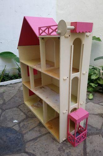 Casa De Munecas Barbie C Terraza Ascensor 3 Pisos 3 500 00 En 2020 Casa De Munecas Barbie Casa De Munecas De Madera Casa De Munecas