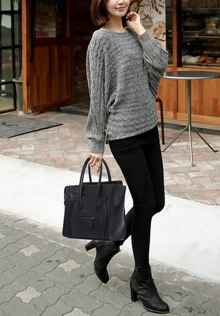 حقيبة كبيرة توتس لون اسود للنساء Fashion Style Chic