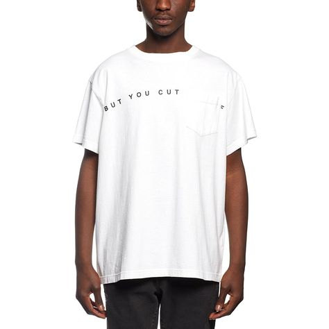 c3bb79bb You cut me tee from the F/W2016-17 Off-White c/o Virgil Abloh collection in  white