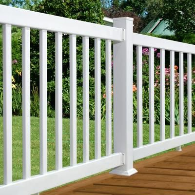 Plastival 72 Inch X 36 Inch Tradition Vinyl Railing Kit White