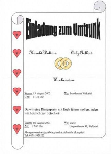 Umtrunk Einladung Hochzeit Polterabend Einladung Polterabend Geschenk Einladungen Hochzeit