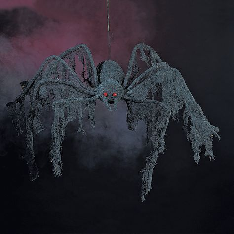 Black Creepy Cloth Spider - OrientalTrading.com