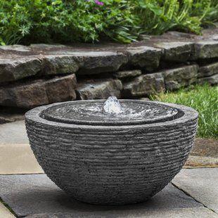 Ophelia Co Nashville Concrete Fountain With Images Fountains Outdoor Concrete Fountains Solar Fountain