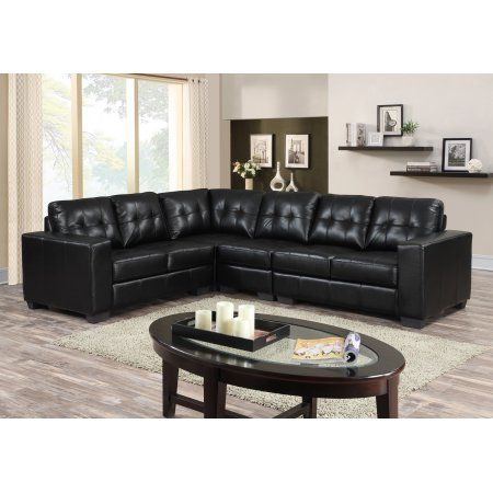 Brassex Metro Sectional Black Sectional Sofa Black Sectional Modern Sectional