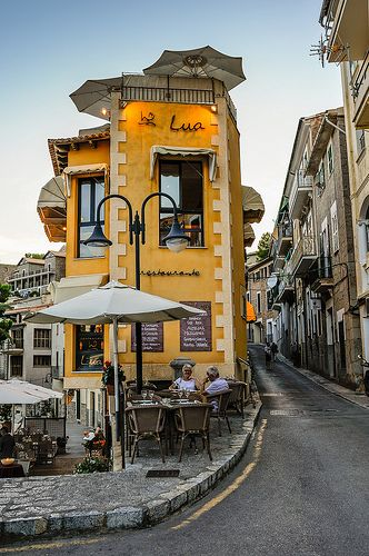 Lua Restaurant, Port de Soller, Mallorca, Balearic Islands in the Mediterranean, Spain. Oh The Places You'll Go, Places To Travel, Places To Visit, Menorca, Wonderful Places, Beautiful Places, Beautiful Pictures, Port De Soller, Voyage Europe