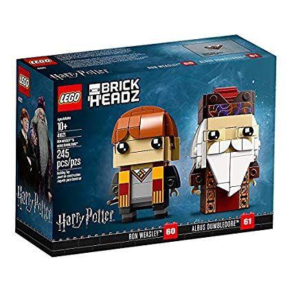 Lego Brickheadz Set De Construccion Multicolor 41621 Ron Weasley Lego Harry Potter Albus Dumbledore