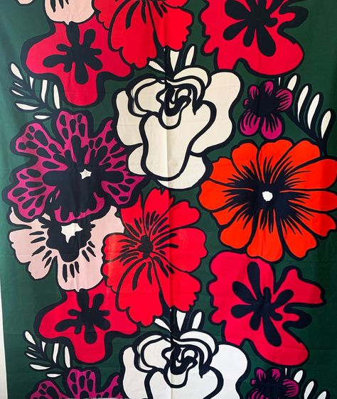 "Marimekko ""Elakoon Elama"" 100% cotton fabric, sold by the half yard"