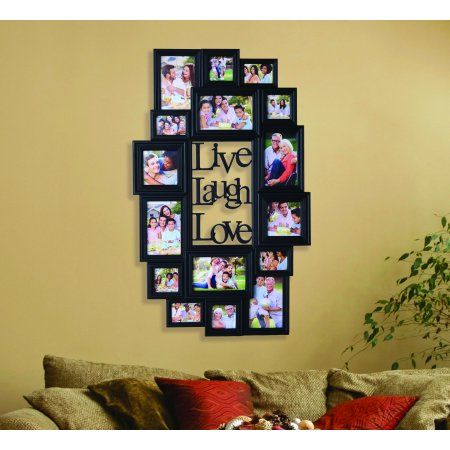 Melannco 16 Opening Black Plastic Photo Collage Frame Walmart Com Framed Photo Collage Photo Collage Collage Frames