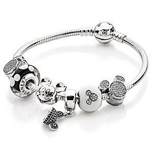 Silver Minnie Mickey Charme Européen Pendentif Perles Fit 925 Collier Bracelet ! !