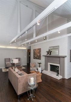 Track lighting for vaulted ceilings great room vaulted ceilings image result for suspended track lighting sloped ceiling aloadofball Image collections
