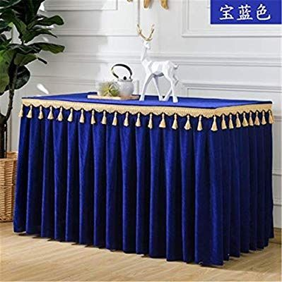 80bb2b5b9ec35 Amazon.com: Luxury Velvet Wedding Table Skirt Hotel Flannel Table ...