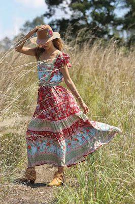 Vintage Bohem Elbise Modelleri Bohem Tarzi Kiyafetler Maksi Elbiseler Bohem