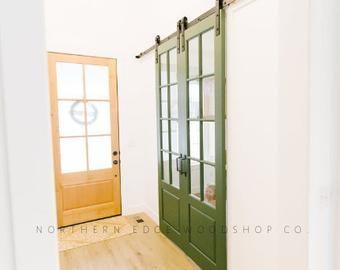 The Linear Slats Glass Sliding Door Contemporary Modern Etsy In 2020 Sliding Glass Door Sliding Doors Glass Pocket Doors