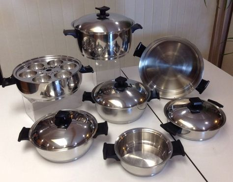 Rena Ware 17 Piece Cookware Set 3 Ply 18 8 Stainless Steel Made In Usa Waterless Renaware