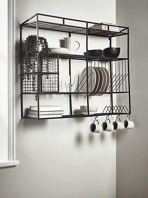 New Iron Mesh Wall Shelf Storage Shelves Hooks Storage Furniture Storage Furniture Solutions Wall Unit Kitchen Shelf Design Kitchen Wall Shelves