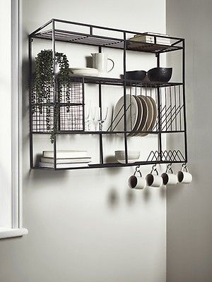 New Iron Mesh Wall Shelf Storage Shelves Hooks Storage