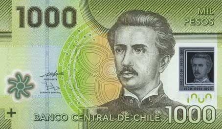Face Side 1000 Peso Of Chile Banconota Immagini Cile