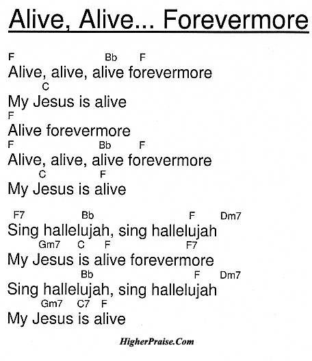 Alive Alive Forevermore Chords By Unlisted Higherpraise Com