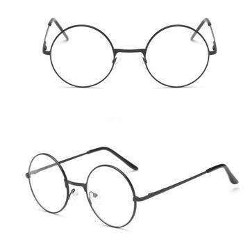 Okulary Szkla Zerowki Okragle Lenonki Czarne Glasses Glasses Inspiration Color