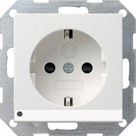 Gira SCHUKO LED Leuchte + SH System 55 Reinweiß 117003