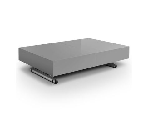 Table Basse Relevable à Rallonges Grise Cassidy εξυπνα