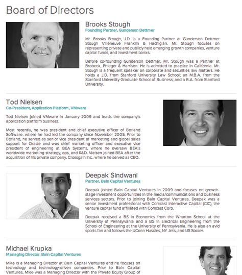 Experience working with board of directors and business leaders