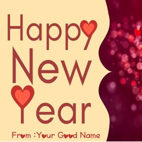 Love Greetings Message New Year 2020 Write Your Name On