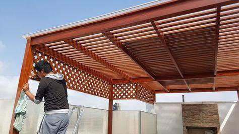 Techos De Madera Sol Y Sombra Buenos Diseños En 2019 Sol Y
