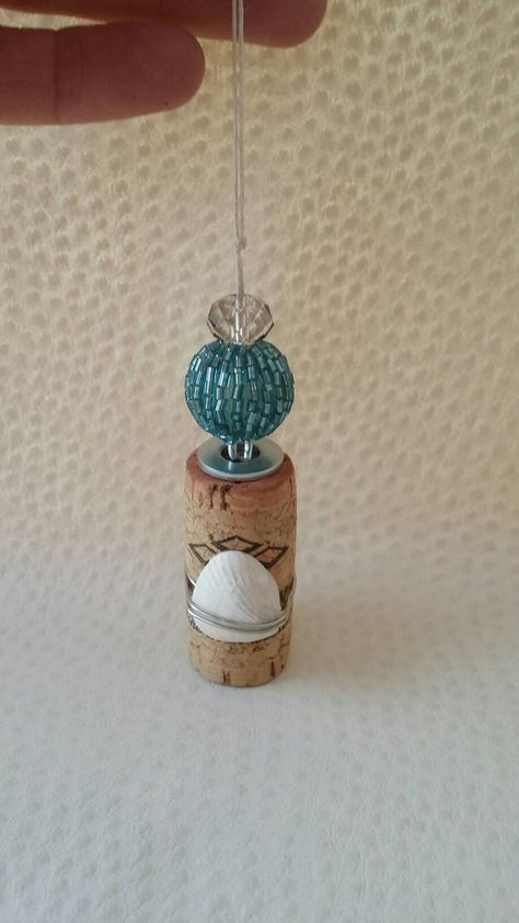 Wine Cork Ornaments Wine Corks Embellished by InspirationsbyJG