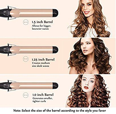 Amazon Com Anjou 1 Inch Curling Iron With Tourmaline Ceramic Coating Hair Curling Wand With Hair Curling Tips Curling Hair With Wand Curling Iron Hairstyles