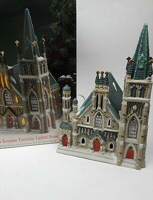 Keepsake Christmas Villages 2020 Vintage O'Well Dickens Keepsake Cathedral Church Christmas Village