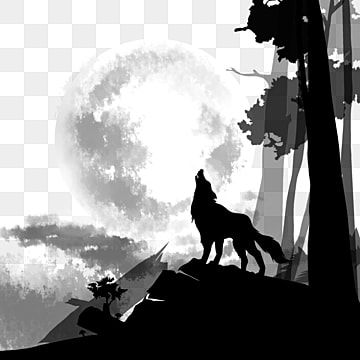 Black Wolf Howling On Top Of The Mountain Roar Wolf Night Png Transparent Clipart Image And Psd File For Free Download Background Patterns Black Wolf Black Social Media Icons