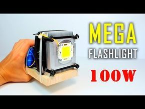 How To Make High Power Led Light At Home 40 Watt Youtube High Power Led Lights Flashlight Led Flashlight