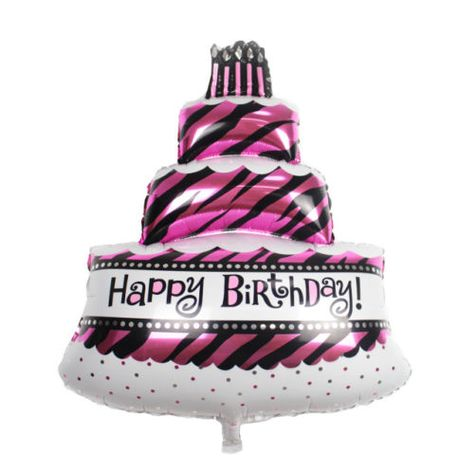 Phenomenal Birthday Party Supply 1 Pcs Large Birthday Cake Foil Balloon Funny Birthday Cards Online Sheoxdamsfinfo