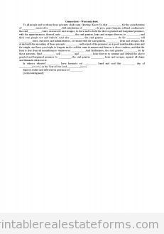 Sample Printable General Warranty Deed Form  Latest Sample Real
