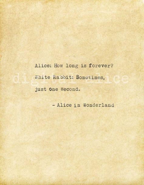 VINTAGE TYPEWRITER PRINT Alice in Wonderland quote printable | Etsy