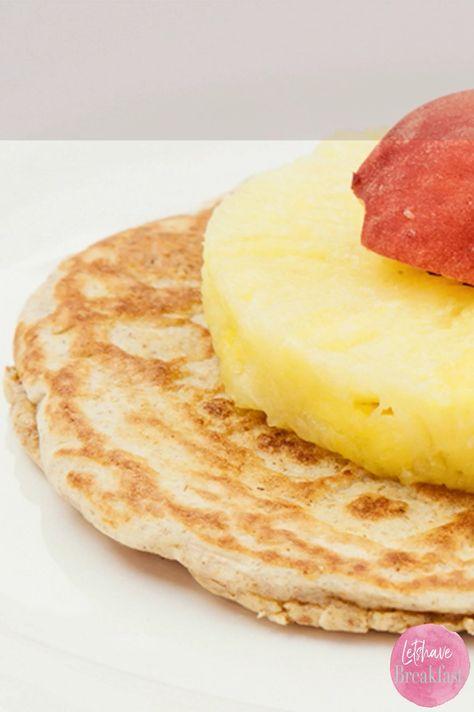 Zuckerfreie Pancakes mit Obst