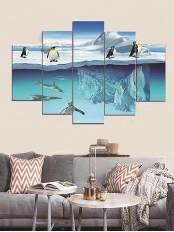 Penguins Print Split Canvas Paintings Penguin Wall Decor Cheap Canvas Prints Cheap Canvas Wall Art
