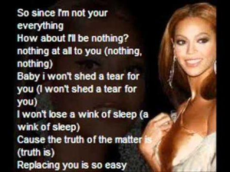 beyonce-irreplaceable lyrics - YouTube