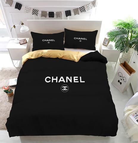 Chanel Logo Custom Bedding Set Duvet, Coco Chanel Bedding