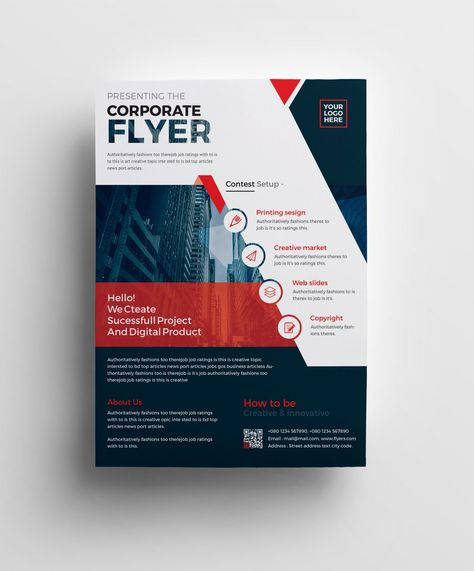 Plutus Professional Corporate Flyer Template 001008 - Template Catalog