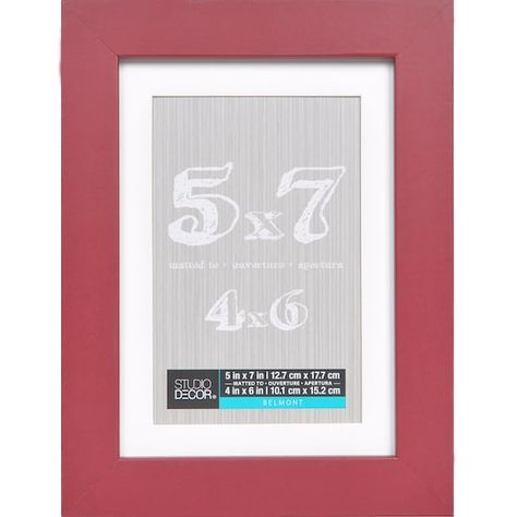 Dark Red Belmont Frame With Mat By Studio Decor 5 X 7 Michaels Decor Frame Pink