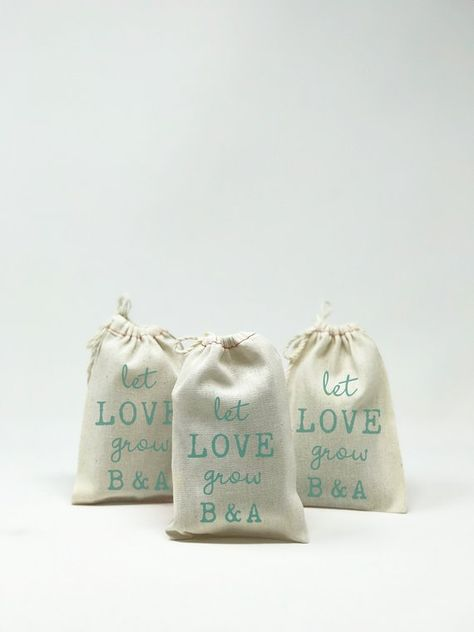 Custom Wedding Favor Bags Muslin Bags Personalized Wedding Favors