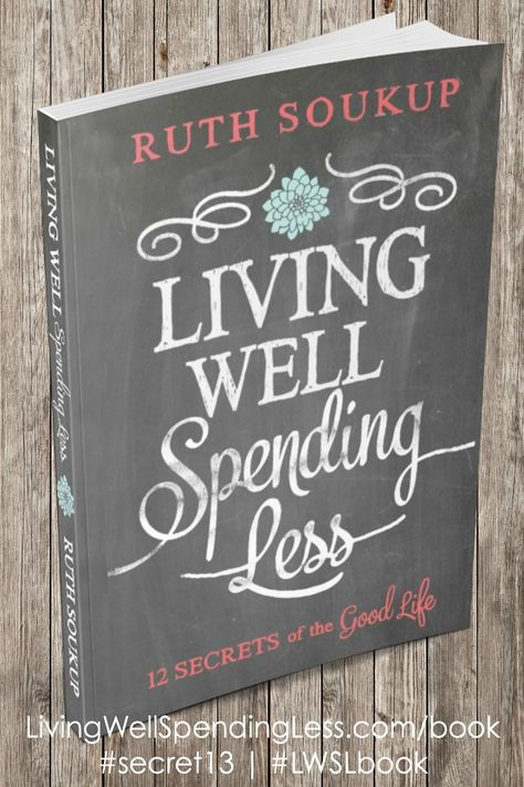 In stores TODAY!  Living Well Spending Less: 12 Secrets of the Good Life was written for anyone who currently feels overwhelmed with a life--and budget--that seems out of control.  It is a practical guide for making small but powerful changes to our homes, goals, or finances.  It is real, honest, jam packed with practical tips, and truly speaks to the heart of the matter--how can we live the good life we've always wanted?