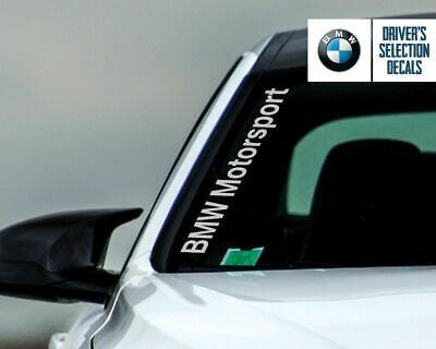 Bmw Motorsport Side Windshield Decal Windows Sticker Graphic