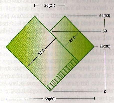 modello poncho 2 rettangoli per bimba