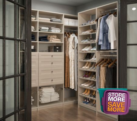Closet Organizers The Home Depot In 2020 Wood Closet Systems Custom Closet Shelving Closet Organizing Systems