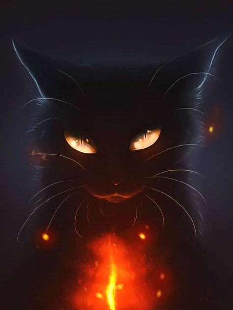 Heart's Blood... by Mizu-no-Akira on DeviantArt. I was attracted to this work for similar reason as another I posted previously; the stark contrast between the dark and light. The demonic and secretive nature of the feline, highlighted by the bright strea (faces to draw deviantart)